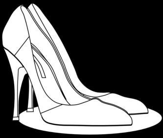 333x282 Heels Clipart Monochrome