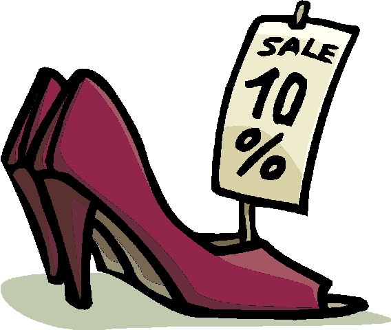568x480 Purple High Heels Sale Clipart