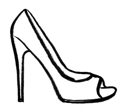 400x369 Black And White High Heels Clipart