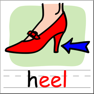 304x304 Clip Art Basic Words Eel Phonics Heel Color I