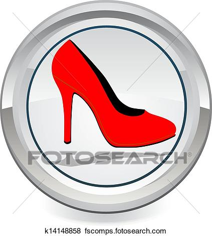 423x470 Clip Art Of Red High Heels K14148858
