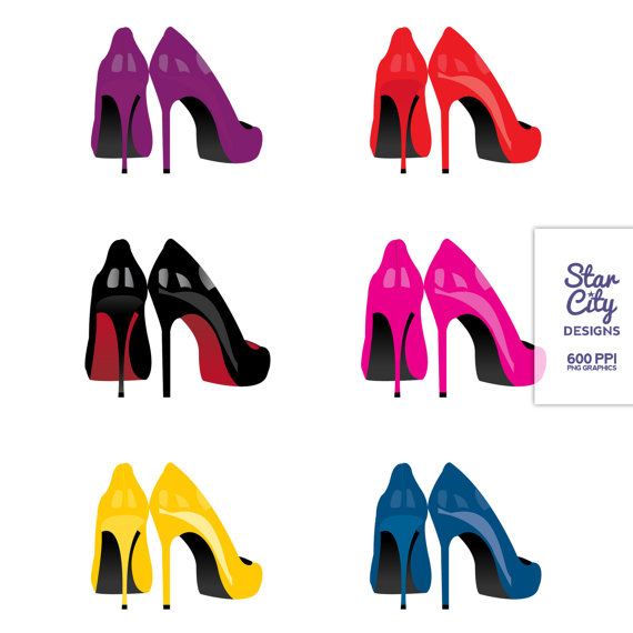 570x570 Diva High Heels Clipart