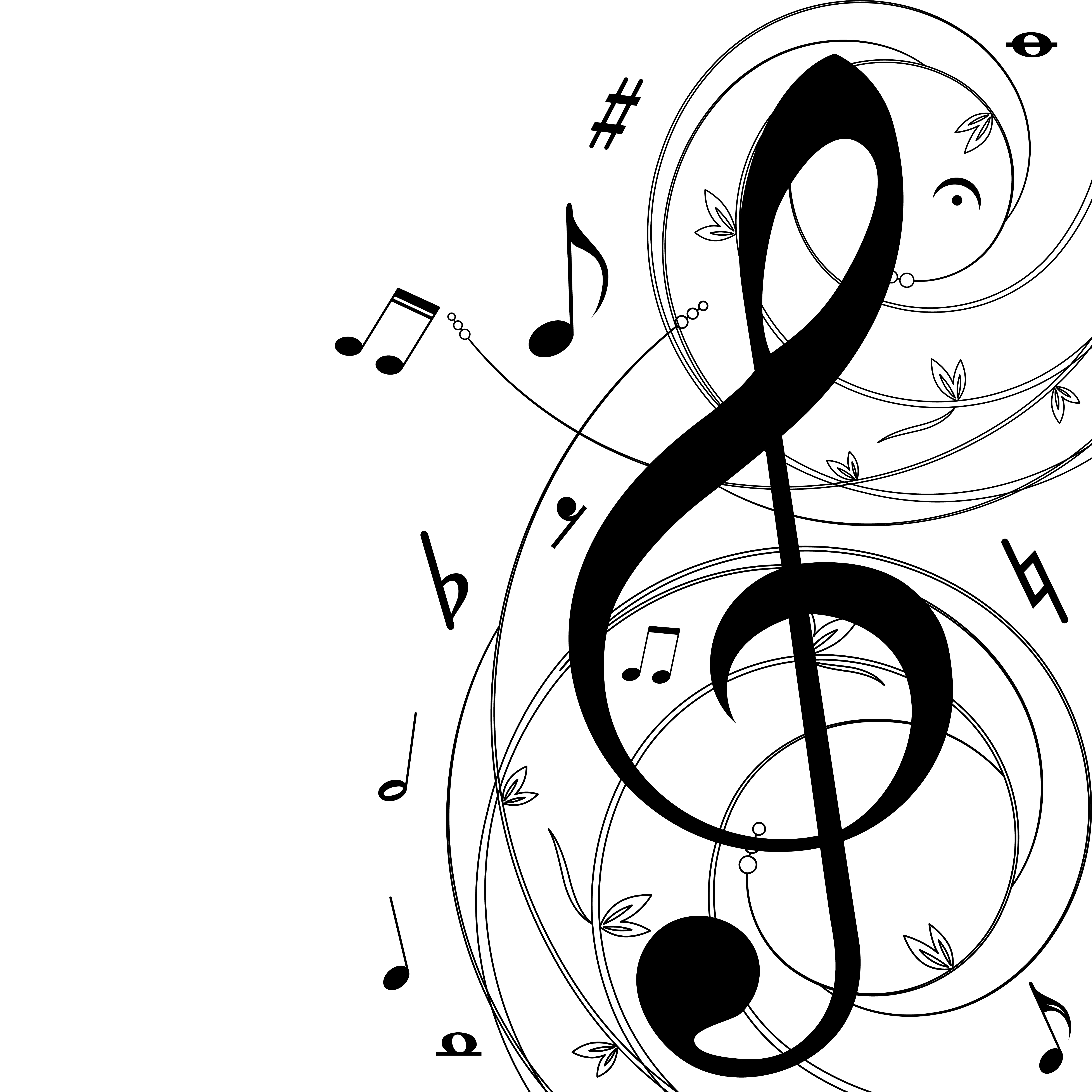5000x5000 Music Notes Clipart Concert Band