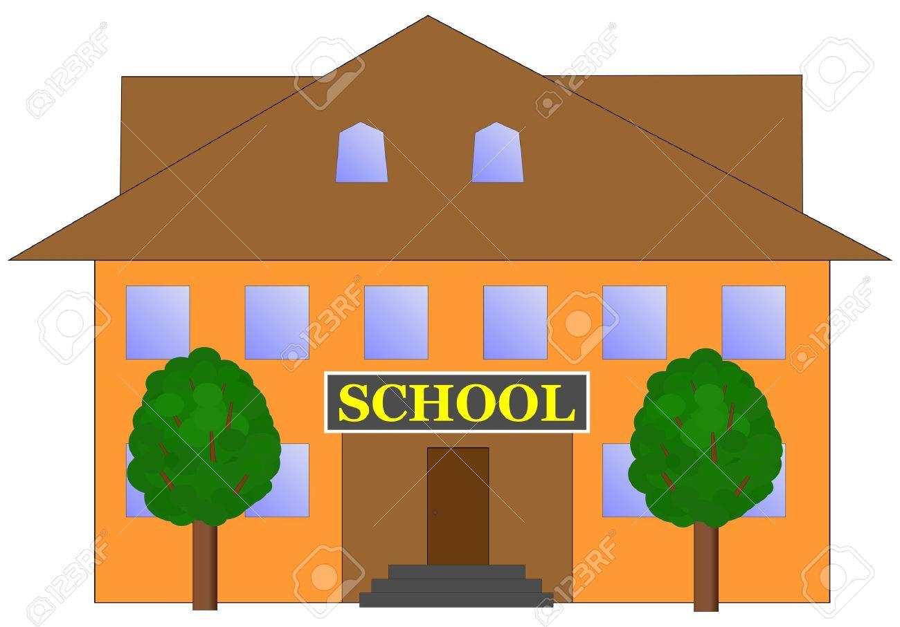 1300x907 Clip Art School Building Clip Art