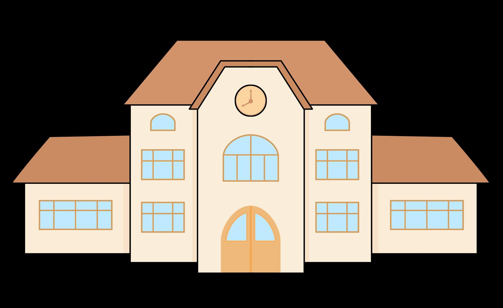 1600x980 Clipart Of School Building