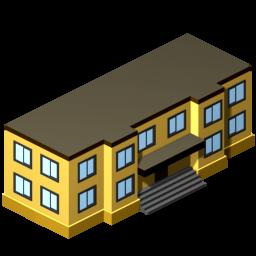 256x256 3d Clipart School Building