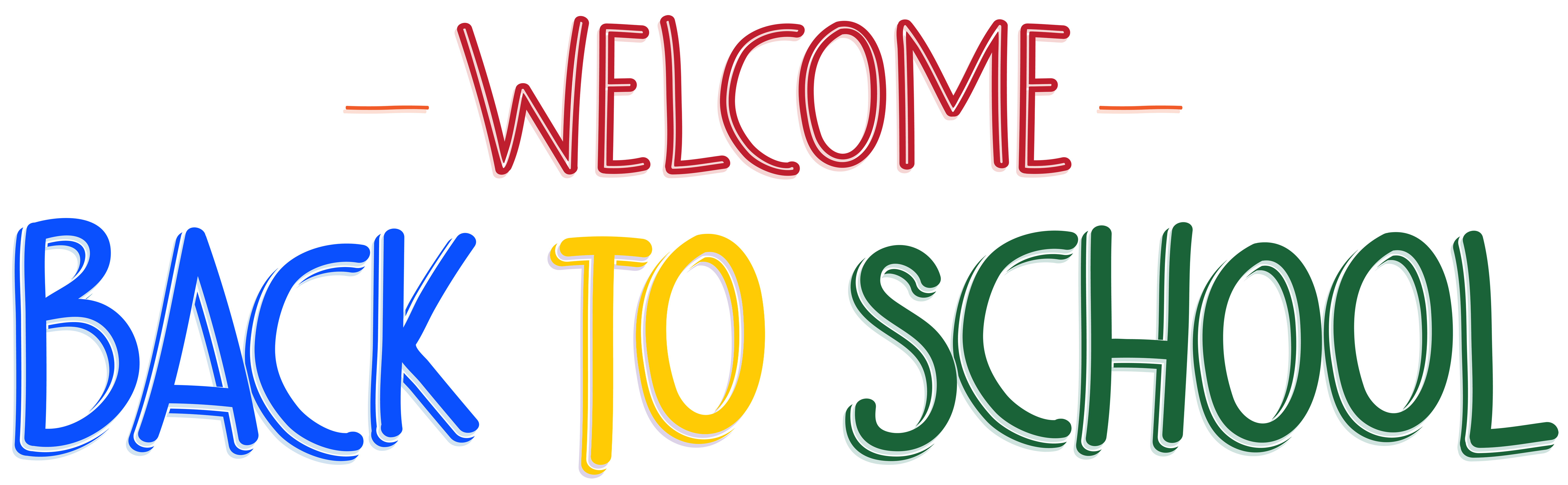 8000x2477 Welcome Back to School PNG Clip Art Image Gallery Yopriceville