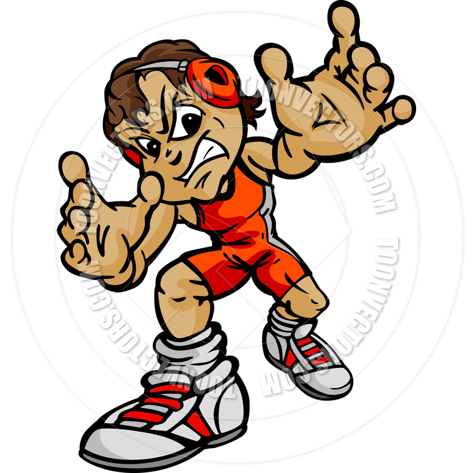 High School Wrestling Clipart