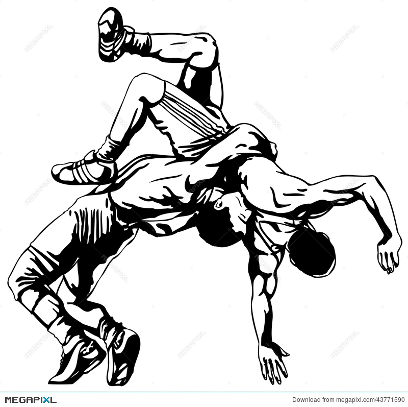 800x797 Greco Roman Wrestling Illustration 43771590