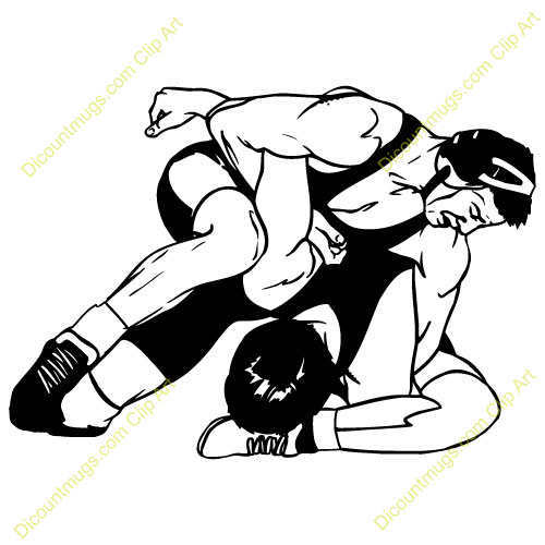 500x500 High School Wrestling Clipart