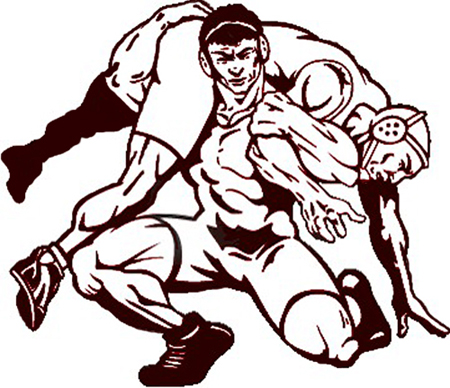 450x388 High School Wrestling Clipart 3