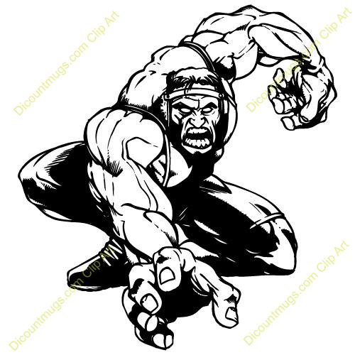 500x500 Wrestler Clipart Ram
