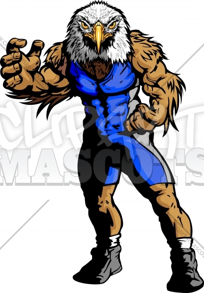 412x590 Eagle Wrestling Clipart Graphic Vector Image