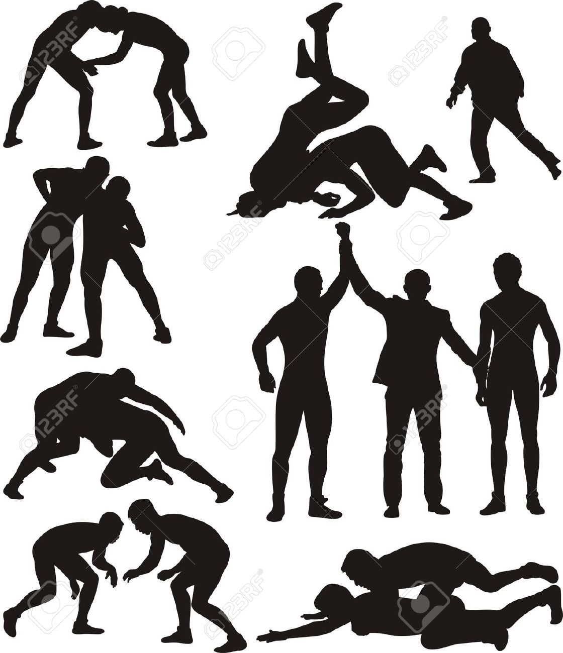 1120x1300 Free Wrestling Clip Art Pictures