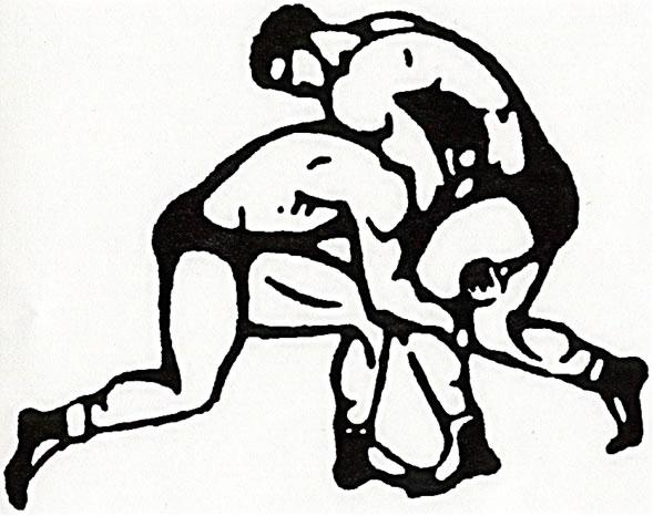 589x466 High School Wrestling Mat Clipart