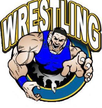 334x355 High School Wrestling Clipart