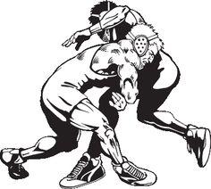 236x212 High School Wrestling Clipart