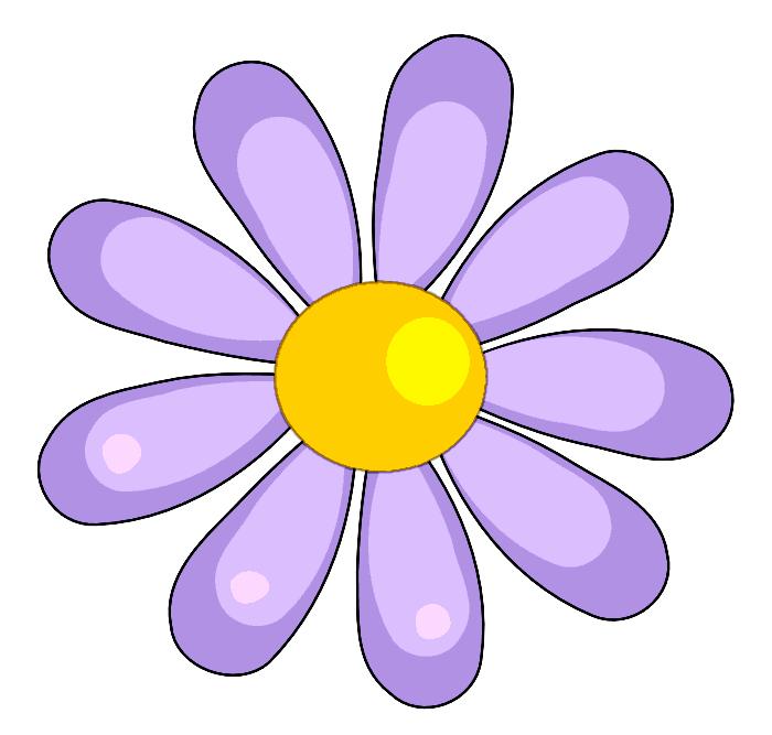 700x667 Flower Clip Art Flower Flower Blue Yellow Highlights A Public