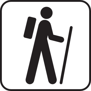 300x300 Hiking Clip Art