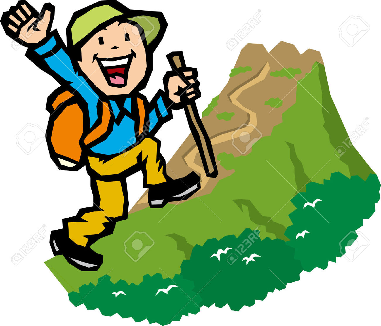 1300x1113 Hiking Clipart Mountain Trekking