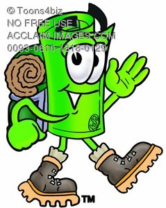239x300 Illustration Of A Rolled Money Cartoon Character Hiking