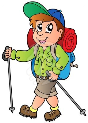287x400 Clip Art Cartoon Hiker Boy Clipart Panda