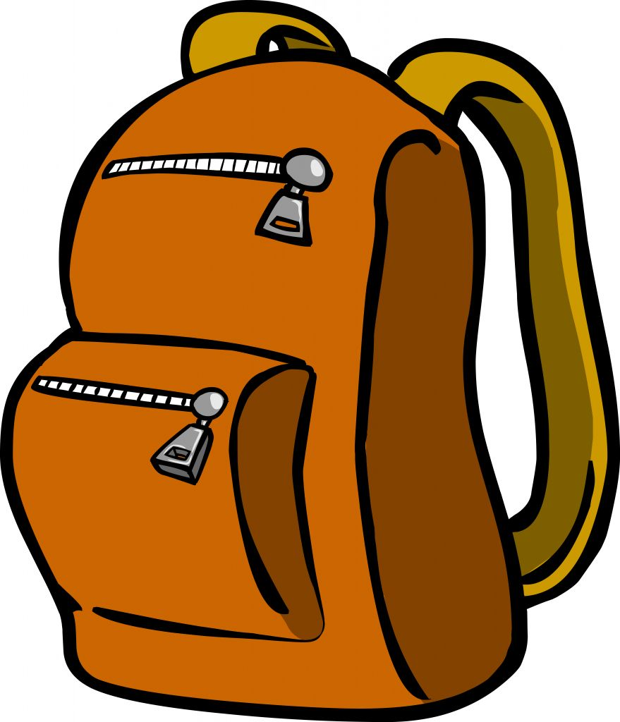 879x1024 Free Hiking Backpack Clipart Image