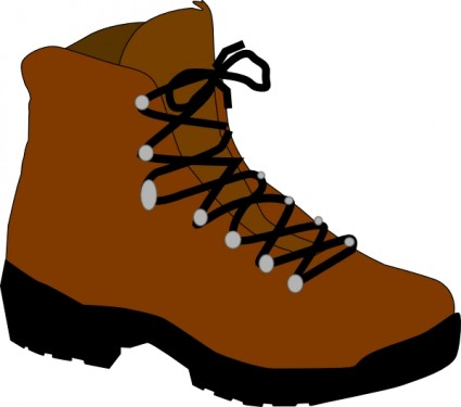 425x375 Hiking Boot Clip Art Vector Clip Art Free Vector Free Download