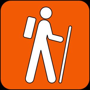 300x300 Hiking Trail Orange Clip Art