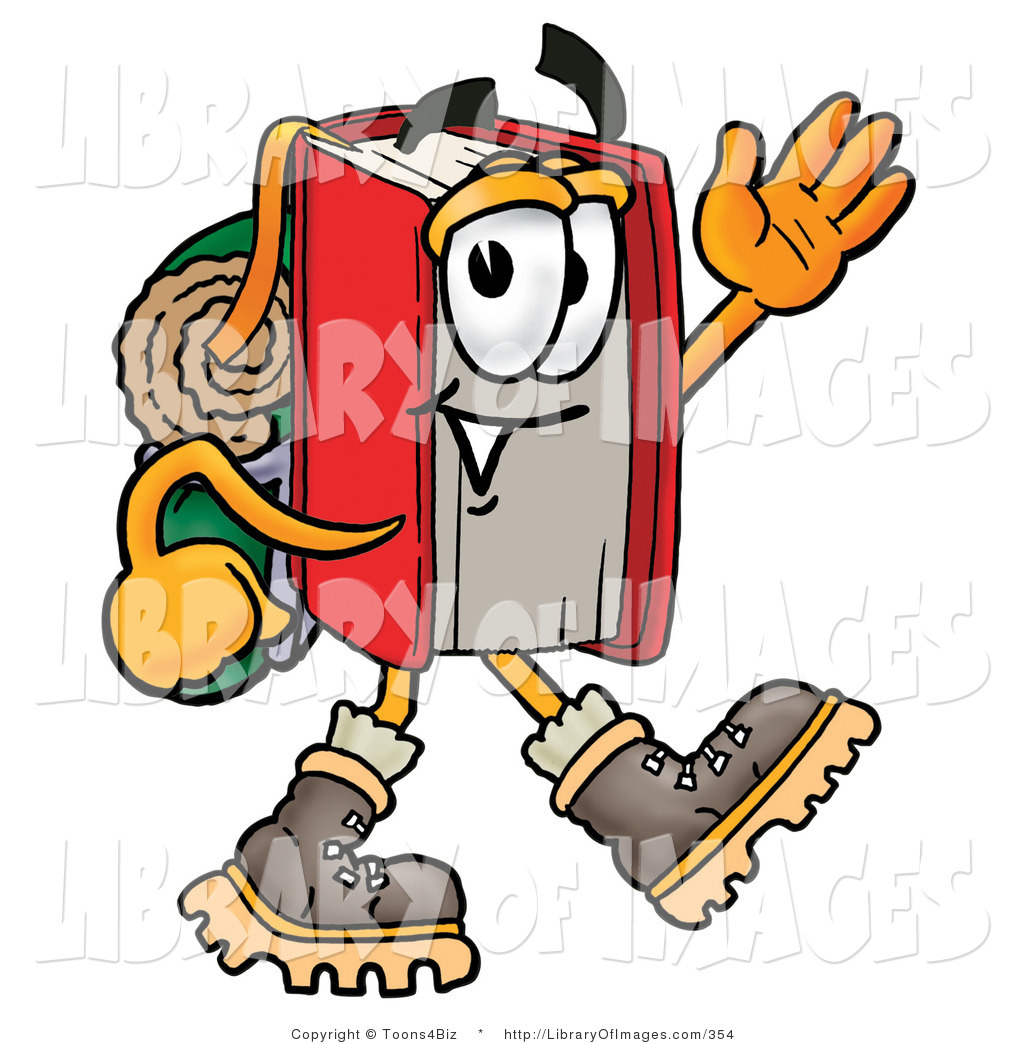 1024x1044 Clip Art Of A Sportsmanlike Red Book Mascot Cartoon Character