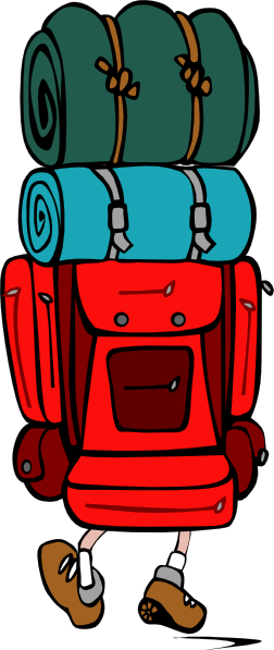 252x597 Free Backpack Clipart Image