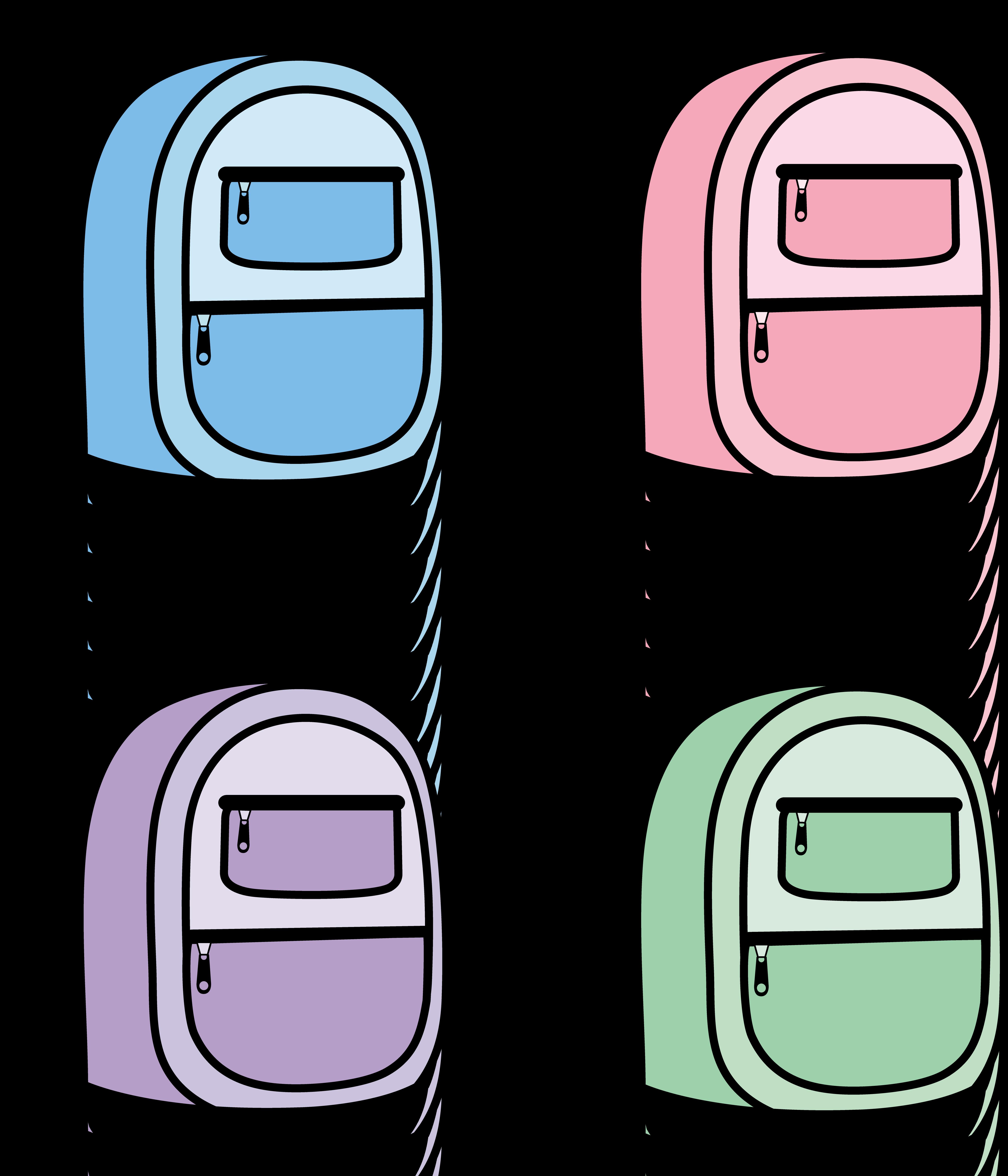 5199x6064 Backpack Book Bag Clipart Free Clip Art