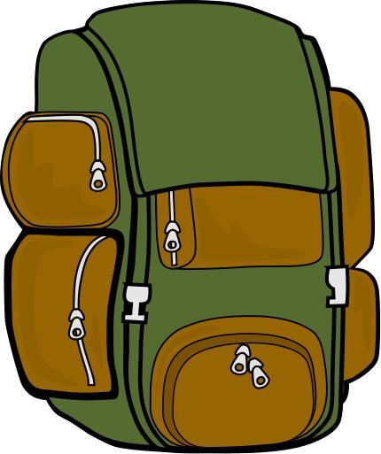 430x513 Hiking Backpack Clipart Clipart Panda