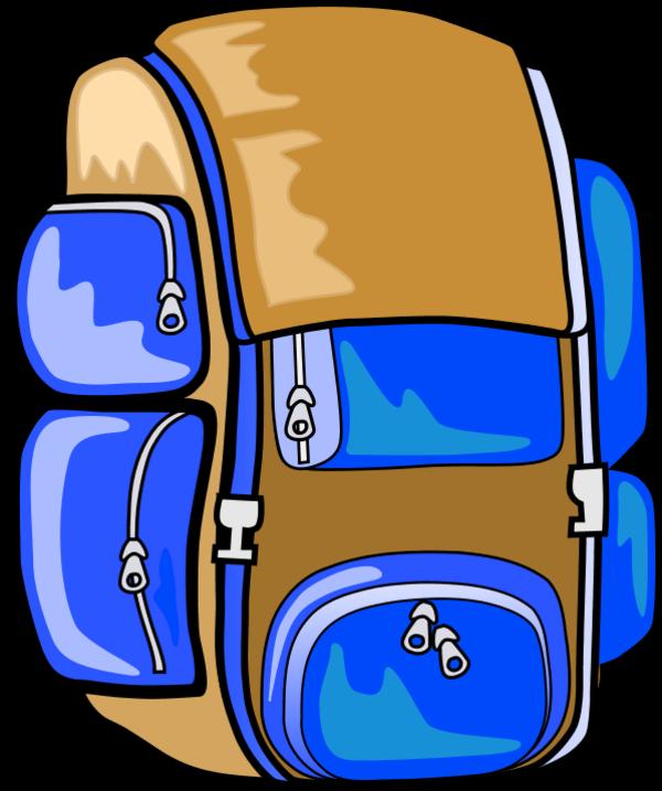 600x717 Hiking Backpack Clip Art Hiking Clipart Photo
