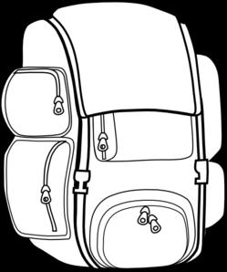 249x298 Black Backpack Clip Art