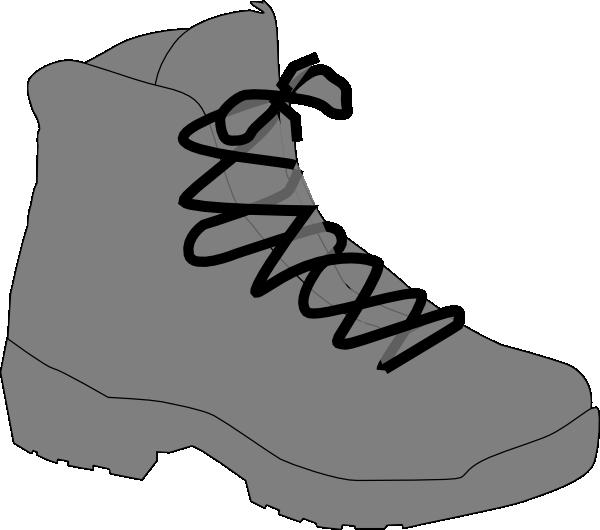 600x530 Grey Boot Clip Art