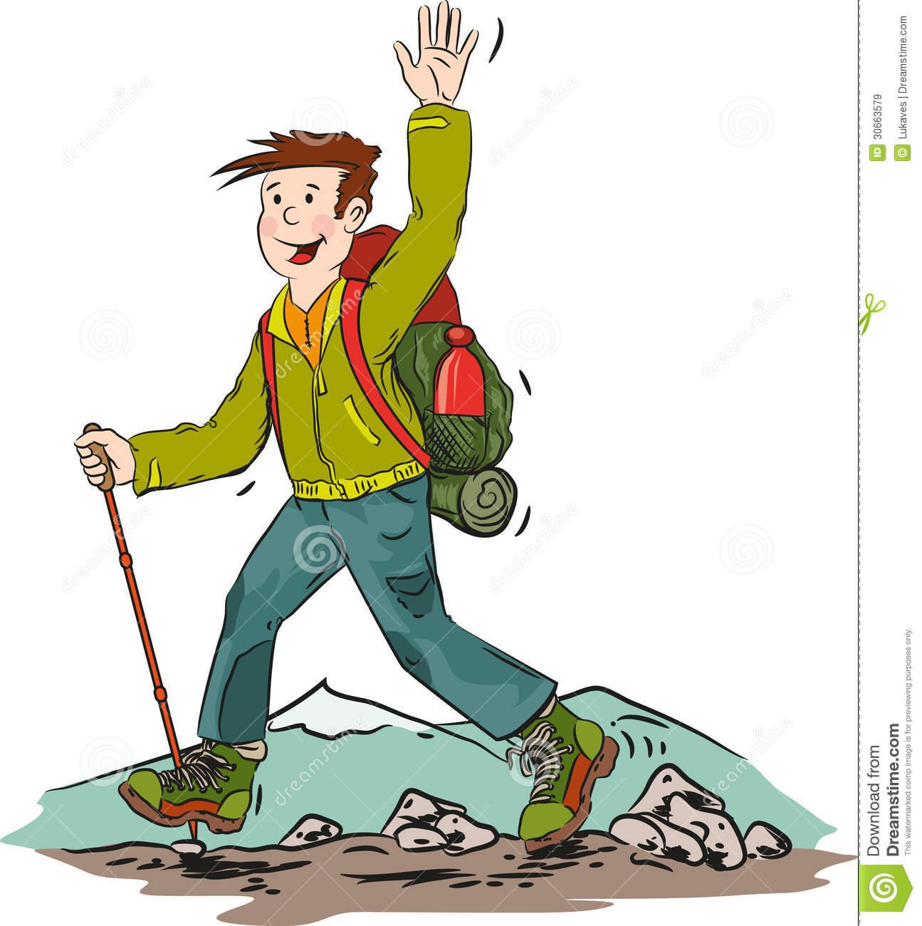 1295x1300 Hiking Man Clipart