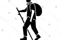 200x135 Best Free Art Clip People Hiking Vector Design