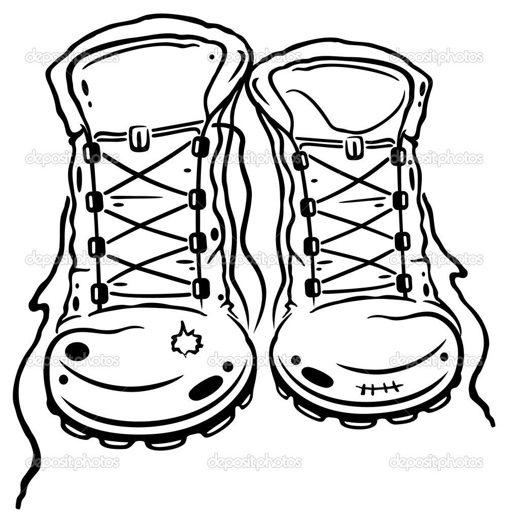 1003x1023 Clip Art Hiking Boots Clipart