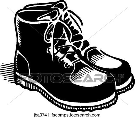 450x394 Clipart Of Pair Of Shoes Bampw Jba0741