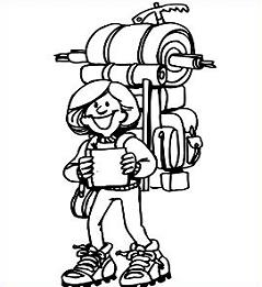 239x261 Free Hiking Clipart