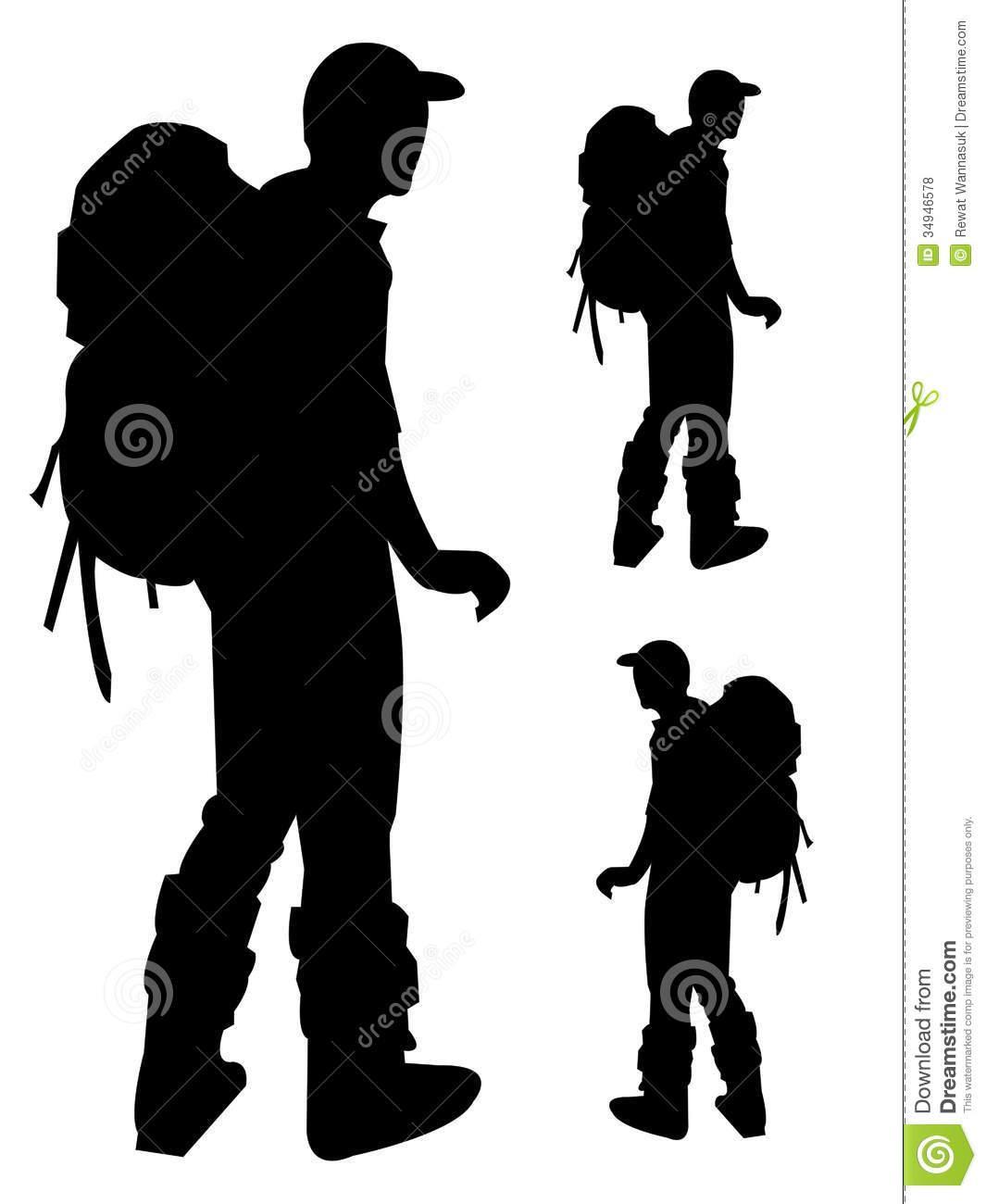 1065x1300 Hiker Silhouette Clip Art