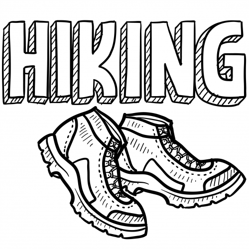 500x500 Hiking Boots Clip Art Coloring Page Projects To Try