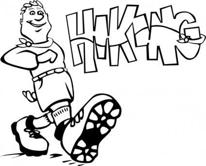 425x342 Hiking Clip Art Download