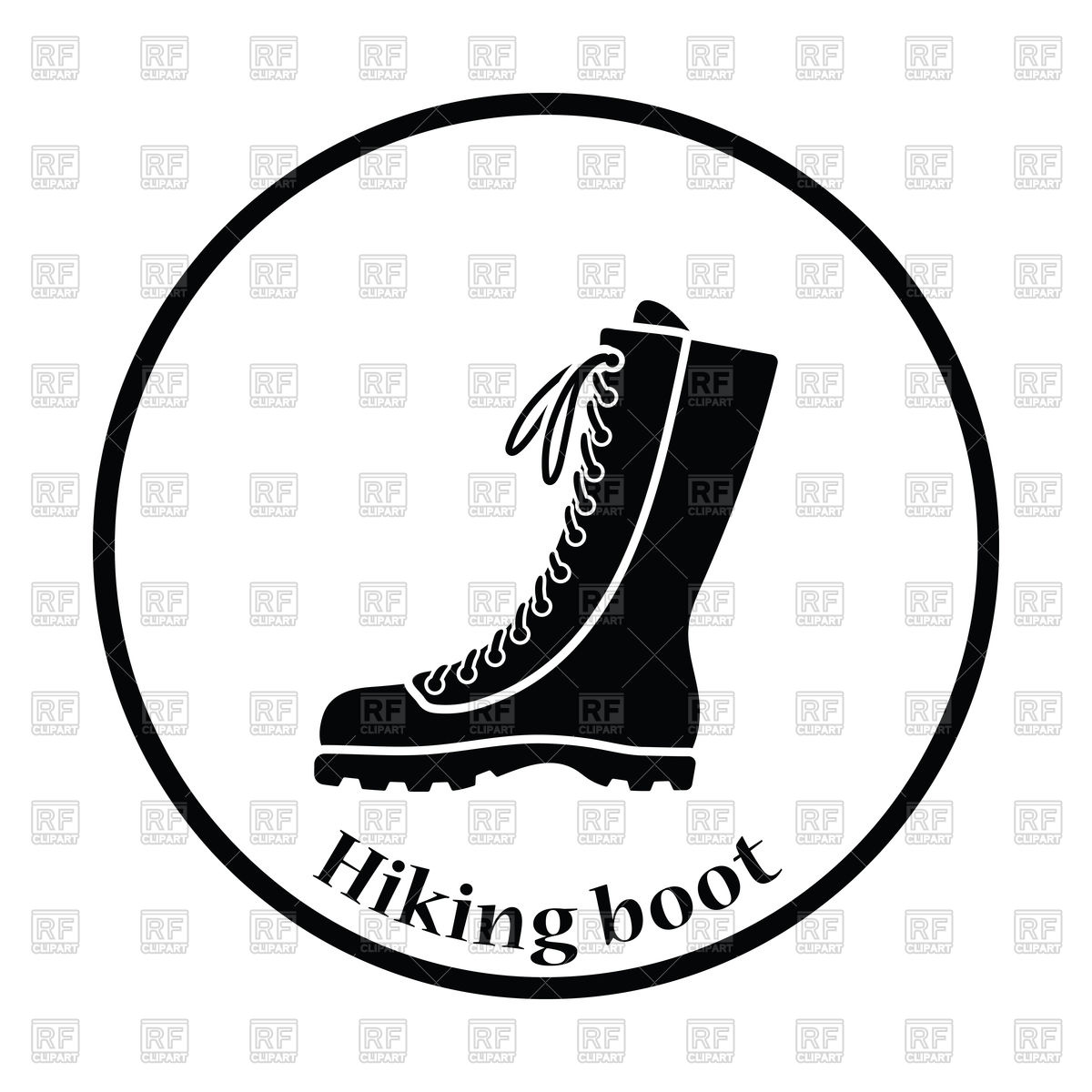 1200x1200 Silhouette Of Hiking Boot Icon Royalty Free Vector Clip Art Image