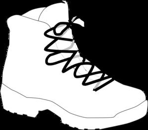 299x264 White Boot Clip Art