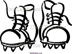300x224 Hiking Boots Vector Clip Art