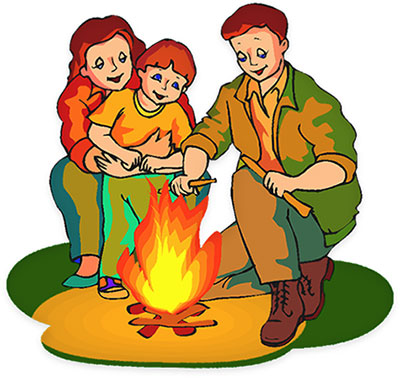 400x378 Hiking Clipart Kid Campfire