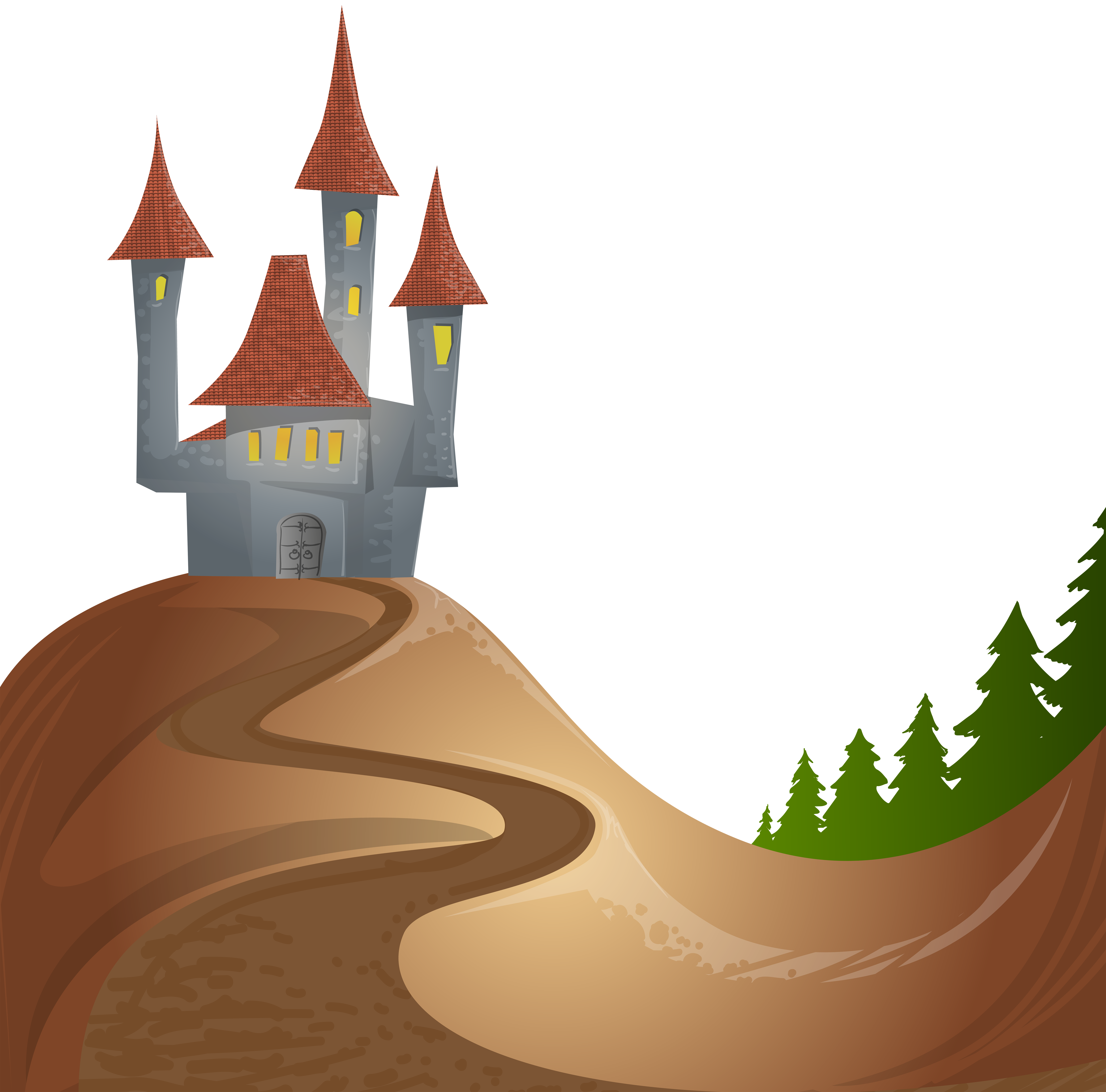 8000x7896 Castle On Hill Free Png Clip Art Imageu200b Gallery Yopriceville