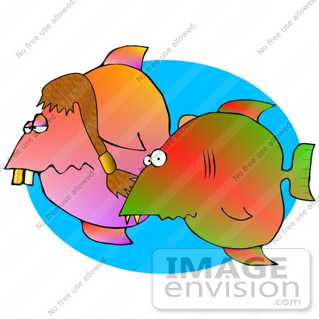450x450 Hillbilly Fish With Buck Teeth Clipart Graphic